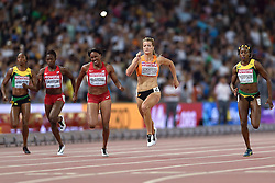 28-08-2015 CHN: IAAF World Championships Athletics day 7, Beijing<br /> Dafne Schippers (NED) winning at 200 m with World Championship Record.<br /> (R-L) Elaine Thompson JAM, Dafne Schipperd NED, Candyce McGrone USA, Jeneba Tarmoh USA, Sherone Simpson JAM<br /> Photo by Ronald Hoogendoorn / Sportida