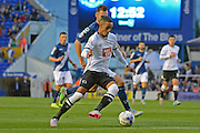 Thomas Ince attacks during the Sky Bet Championship match between Birmingham City and Derby County at St Andrews, Birmingham, England on 21 August 2015. Photo by Alan Franklin.