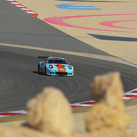 #86, Gulf Racing, Porsche 911 RSR(991), driven by: Michael Wainwright, Ben Barker, Nick Foster, WEC BAPCO 6 Hours of Bahrain, 17/11/2017,