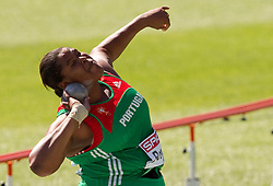 Maria Antonia Borges of Portugal competes in the Womens Shot Put Qualifying during day one of the 20th European Athletics Championships at the Olympic Stadium on July 27, 2010 in Barcelona, Spain.  (Photo by Vid Ponikvar / Sportida)