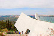 Israel, Jerusalem Yad Vashem, The new wing. Yad Vashem, literally, memorial and name, is the memorial to the Six Million Jews murdered during the holocaust in world war two. It is also a research and documentation center.