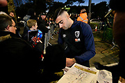 Diego Rico (21) of AFC Bournemouth arriving at the Vitality Stadium before the Premier League match between Bournemouth and Chelsea at the Vitality Stadium, Bournemouth, England on 30 January 2019.