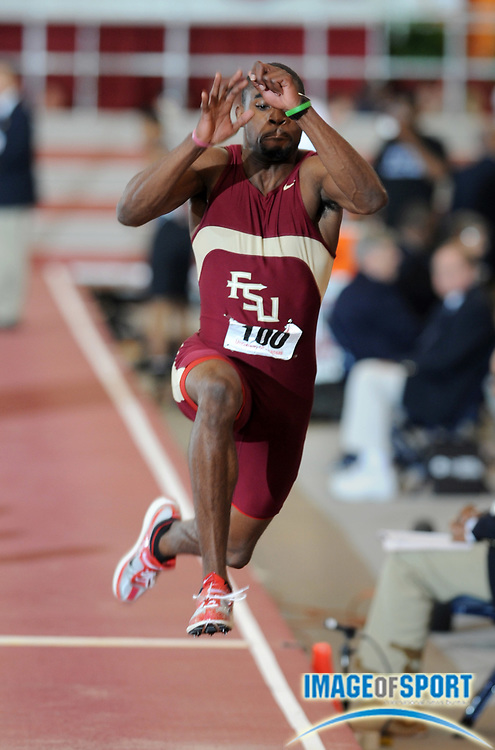 Mar 15, 2008; Fayetteville, AR, USA; Rayon Taylor of Florida State was eighth in the triple jump at 52-1 3/4 (15.89m) in the NCAA indoor track and field championships at the Randal Tyson Center.