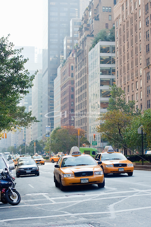 street scenes on fifth avenue in New York City in October 2008