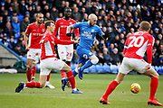 Peterborough Utd forward Marcus Maddison (21) on the attack during the EFL Sky Bet League 1 match between Peterborough United and Charlton Athletic at London Road, Peterborough, England on 26 January 2019.