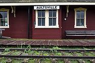 The Aultsville Train Station along a segment of the original Grand Trunk Railway near Upper Canada Village, Ontario, Canada.  The station was built between 1866 and 1889 and moved to its current location in the 1950's due to the rising waters from the flooding of the St. Lawrence Seaway.