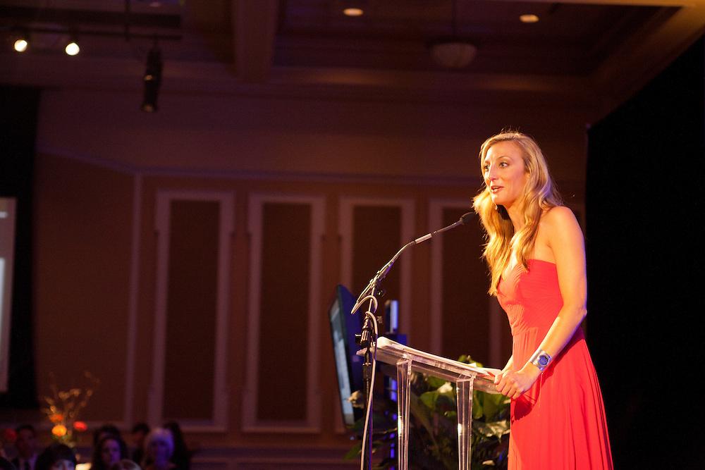 Lyndsay Markley at Ohio University Alumni Association's Annual Awards Gala at Baker University Center on October 11, 2013.