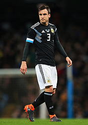 Nocolas Tagliafico of Argentina - Mandatory by-line: Matt McNulty/JMP - 23/03/2018 - FOOTBALL - Etihad Stadium - Manchester, England - Argentina v Italy - International Friendly