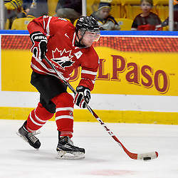 WHITBY, - Dec 16, 2015 -  Game #8 - Czech Republic vs. Canada East at the 2015 World Junior A Challenge at the Iroquois Park Recreation Complex, ON.  Lucas Batt #4 of Team Canada East shoots the puck during the second period.<br /> (Photo: Shawn Muir / OJHL Images)