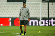 Liverpool manager Jurgen Klopp during the Liverpool Training session ahead of the 2019 UEFA Super Cup Final between Liverpool FC and Chelsea FC at BJK Vodafone Park, Istanbul, Turkey on 13 August 2019.