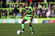 Forest Green Rovers Reece Brown(10) on the ball during the EFL Sky Bet League 2 match between Forest Green Rovers and Cheltenham Town at the New Lawn, Forest Green, United Kingdom on 20 October 2018.