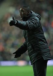 Cameroon's manager Clarence Seedorf during the international friendly match at Stadium MK, Milton Keynes.