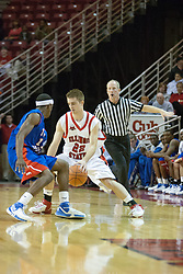 02 December 2006: Julius Moor (22) and Rodrick Epps scirmish at the mid court corner.  In a non-conference game, the Mavericks of University of Texas at Arlington lost to the Redbirds home 86-61. The win was the 5th in a row for the Redbirds, the longest winning streak in 6 years. the game was played at Redbird Arena in Normal Illinois on the campus of Illinois State University.<br />