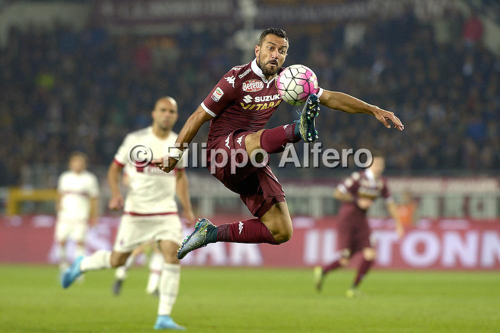 &copy; Filippo Alfero<br /> Torino-Milan, Serie A 2015/2016<br /> Torino, 17/10/2015<br /> sport calcio<br /> Nella foto: Fabio Quagliarella
