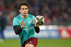 December 30, 2018 - Limerick, Ireland - Joey Carbery of Munster catches the ball during the Guinness PRO14 match between Munster Rugby and Leinster Rugby at Thomond Park in Limerick, Ireland on December 29, 2018  (Credit Image: © Andrew Surma/NurPhoto via ZUMA Press)