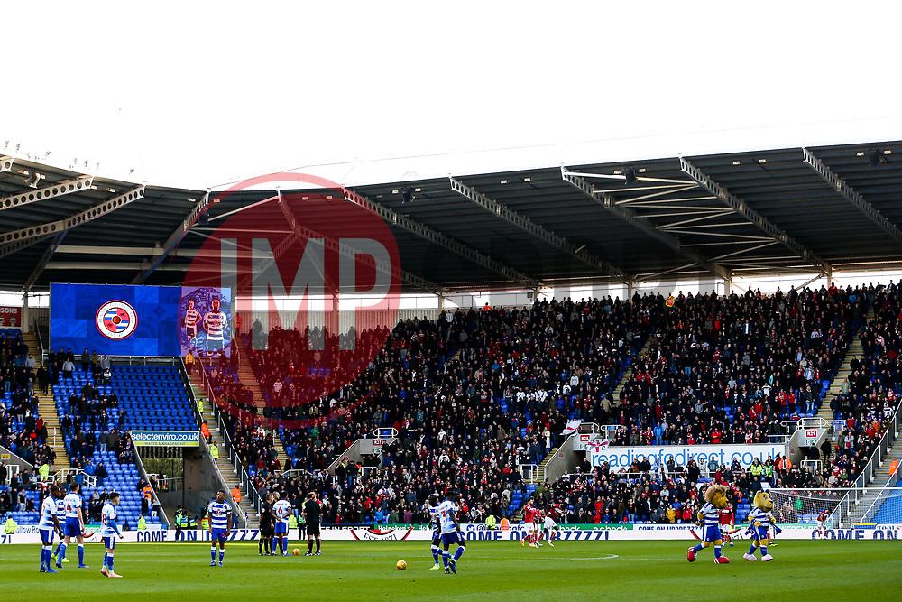 Bristol City fans fill the away end - Rogan/JMP - 03/11/2018 - Madejski Stadium - Reading, England - Reading FC v Bristol City - Sky Bet Championship.