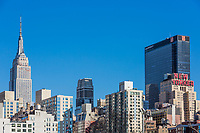 NEW YORK CITY- MARCH 24, 2018 : Manhattan midtown building skyline   one of the main Landmarks