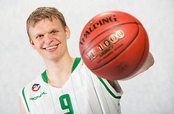 Teemu Rannikko during Euroleague media day of basketball club KK Union Olimpija before new season 2012/13 on September 27, 2012 in Arena Stozice, Ljubljana, Slovenia. (Photo By Vid Ponikvar / Sportida)