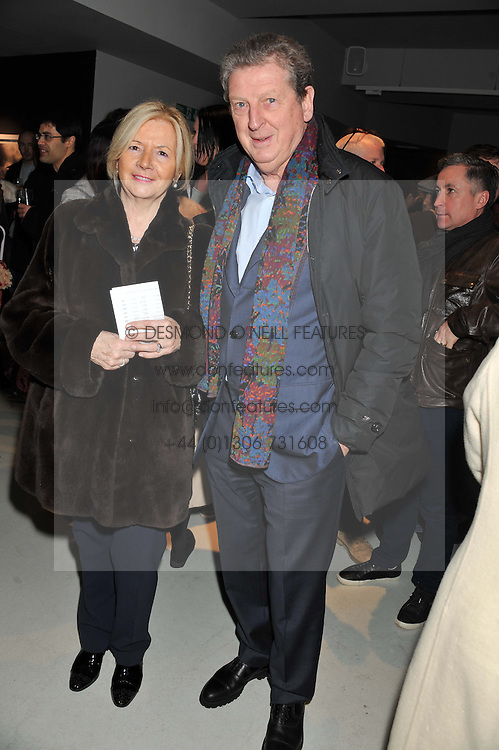 England Football Manager ROY HODGSON and his wife SHEILA HODGSON at a private view of Bill Wyman - Reworked held at the Rook & Raven Gallery, 7 Rathbone Place, London W1 on 26th February 2013.