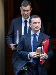 © Licensed to London News Pictures. 16/01/2018. London, UK. Secretary of State for Wales Alun Cairns leaving Downing Street after attending a Cabinet meeting this morning. Photo credit : Tom Nicholson/LNP