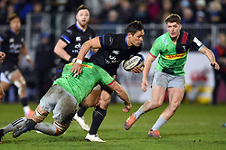 Jackson Willison of Bath Rugby takes on the Harlequins defence - Mandatory byline: Patrick Khachfe/JMP - 07966 386802 - 10/01/2020 - RUGBY UNION - The Recreation Ground - Bath, England - Bath Rugby v Harlequins - Heineken Champions Cup