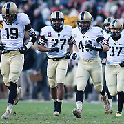 Army Kicker Matthew Campbell #19 leads Army back onto the field in the second quarter of the 112th version Of this storied rivalry Saturday, Dec. 10, 2011 at Fed EX field in Landover Md. ..Navy set the tone early in the game as Navy defeats Army 31-17 in front of 82,000 at Fed EX Field in Landover Md