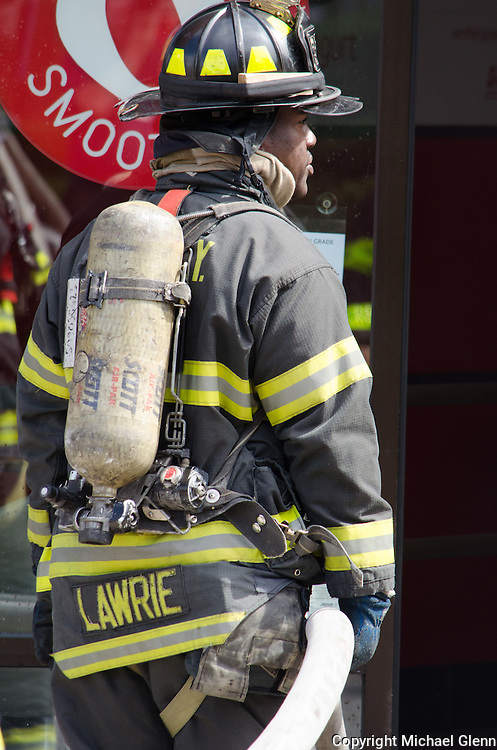 Fire and EMS responded to report of a fire in the Queens County Savings Bank