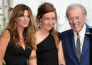 27.JULY.2009. LONDON<br /> <br /> DAVID FROST POSES FOR A PHOTO WITH JEMIMA KHAN AS HE HOSTS HIS ANNUAL SUMMER GARDEN PARTY AT HIS HOUSE IN CHELSEA.<br /> <br /> BYLINE: EDBIMAGEARCHIVE.COM<br /> <br /> *THIS IMAGE IS STRICTLY FOR UK NEWSPAPERS AND MAGAZINES ONLY*<br /> *FOR WORLD WIDE SALES AND WEB USE PLEASE CONTACT EDBIMAGEARCHIVE - 0208 954 5968*