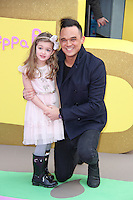 Gareth Gates & Missy, Peppa Pig: The Golden Boots - UK Film Premiere, Odeon Leicester Square, London UK, 01 February 2015, Photo By Brett D. Cove