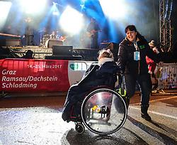10.01.2016, Schladming, AUT, Special Olympics Pre-Games in Graz-Schladming-Ramsau, Eröffnungsfeier im WM-Park Planai, im Bild ein Rollstuhlfahrer, der zur Musik von Opus tanzt // dancing wheelchair user during the opening ceremony of the Special Olympics Pre-Games in Schladming, Austria on 2016/01/10. EXPA Pictures © 2016, PhotoCredit: EXPA / Martin Huber