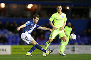 Birmingham City defender Jonathan Spector (23) during the Sky Bet Championship match between Birmingham City and Brighton and Hove Albion at St Andrews, Birmingham, England on 5 April 2016.