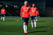 Sam Mantom warms up before the EFL Sky Bet League 1 match between Burton Albion and Southend United at the Pirelli Stadium, Burton upon Trent, England on 3 December 2019.