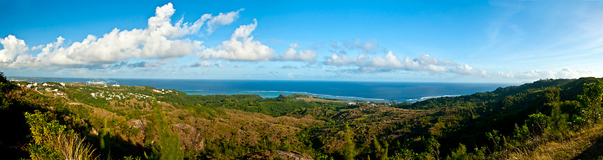 Overlook of entire Asan watershed and Fonte Valley, Guam War in the Pacific National Historical Park, Guam, USA, Micronesia, Western Pacific