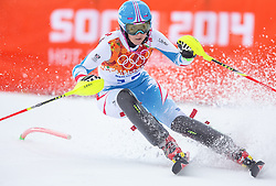10.02.2014, Rosa Khutor Alpine Center, Krasnaya Polyana, RUS, Sochi 2014, Super-Kombination, Damen, Slalom, im Bild Michaela Kirchgasser (AUT) // Michaela Kirchgasser of Austria during the Slalom of the Women's Super Combined of the Olympic Winter Games 'Sochi 2014' at the Rosa Khutor Alpine Center in Krasnaya Polyana, Russia on 2014/02/10. EXPA Pictures © 2014, PhotoCredit: EXPA/ Johann Groder