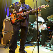 "WASHINGTON, DC - May 5th, 2014 - Big Tony of Trouble Funk  performs at the 9:30 Club in Washington D.C. as part of his birthday celebration. The night featured a set from ""surprise guests"" Dave Grohl and Foo Fighters. (Photo by Kyle Gustafson / For The Washington Post)"