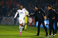 Joie Lyon - Alexandre LACAZETTE / Hubert FOURNIER - 21.12.2014 - Bordeaux / Lyon - 19eme journee de Ligue 1 -<br />