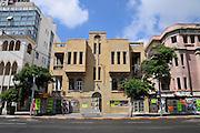Israel, Tel Aviv Dilapidated eclectic building in Allenby street