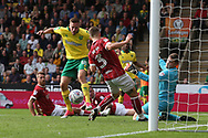 Marco Stiepermann of Norwich goes close during the Sky Bet Championship match at Carrow Road, Norwich<br /> Picture by Paul Chesterton/Focus Images Ltd +44 7904 640267<br /> 23/09/2017