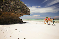 The vibrant colours of Diani Beach, Kenya.
