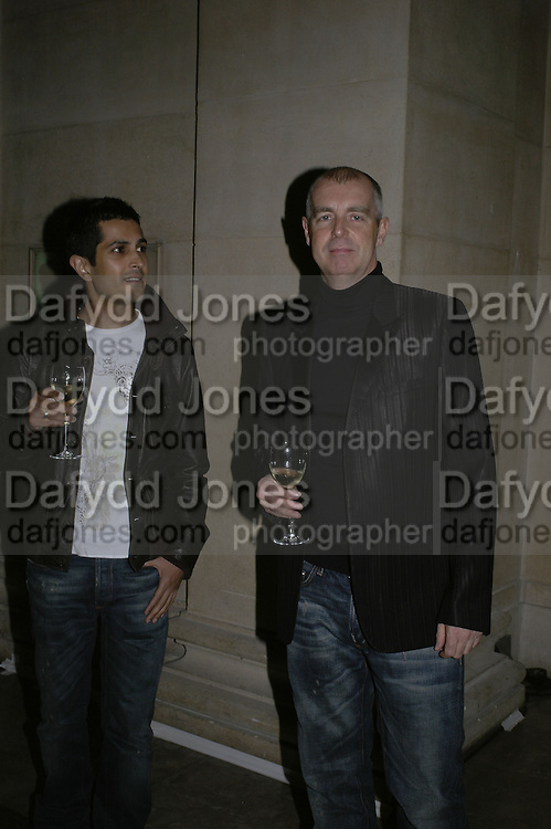 Bal Kalirai and Neil Tennant, Turner Prize 2006 private view of an exhibition of work by this year's shortlist (Rebecca Warren, Tomma Abts, Phil Collins and Mark Titchner) for visual arts prize. Tate Brittain. London 3 October 2006. -DO NOT ARCHIVE-© Copyright Photograph by Dafydd Jones 66 Stockwell Park Rd. London SW9 0DA Tel 020 7733 0108 www.dafjones.com