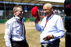 July 8, 2018 - Silverstone, Great Britain - Motorsports: FIA Formula One World Championship 2018, Grand Prix of Great Britain, .Andy Cowell, Niki Lauda (AUT, Mercedes AMG Petronas Motorsport) (Credit Image: © Hoch Zwei via ZUMA Wire)