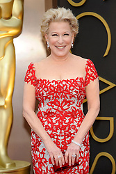 Bette Midler arriving to the 2014 Oscars at the Hollywood and Highland Center in Hollywood, California, USA,  Sunday, 2nd March 2014. Picture by Hollywood Bubbles / i-Images<br /> UK ONLY