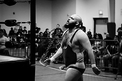 Josh Powers enters the arena before the start of his match during Old School Championship Wrestling Sunday, March 13, 2016 at the Hanahan Sports Complex. Paul Zoeller/Staff