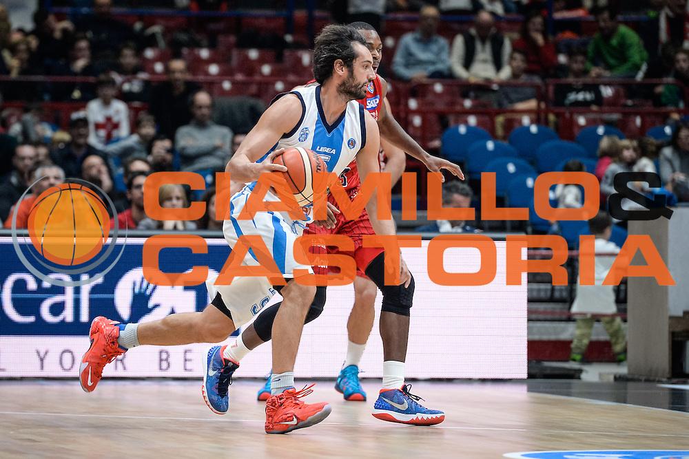 DESCRIZIONE : Milano Lega A 2015-16 <br /> GIOCATORE : Tommaso Laquintana<br /> CATEGORIA : Palleggio Controcampo<br /> SQUADRA : Betaland Capo d'Orlando<br /> EVENTO : Campionato Lega A 2015-2016<br /> GARA : Olimpia EA7 Emporio Armani Milano Betaland Capo d'Orlando<br /> DATA : 13/12/2015<br /> SPORT : Pallacanestro<br /> AUTORE : Agenzia Ciamillo-Castoria/M.Ozbot<br /> Galleria : Lega Basket A 2015-2016 <br /> Fotonotizia: Milano Lega A 2015-16