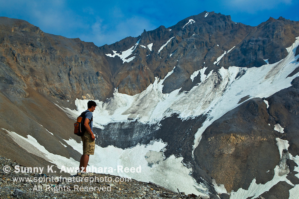 Hiking, Bonanza Ridge, Wrangell - St. Elias Park, Alaska
