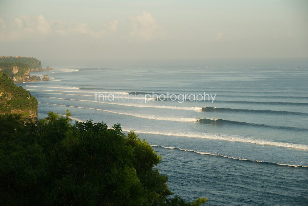 Scenic overhead view of consecutive waves, Impossibles , Bali
