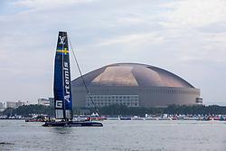 Louis Vuitton America's Cup Worlds Series in Fukuoka, Practice racing. Thursday the 17th of November 2016, Fukuoka, Japan
