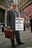 "A protest on Wall Street against the bailout started at 4pm and lasted past 7. Approximately 300 protesters participated. Protesters chanted,<br /> "" You broke it, you bought it""  and ""bail me out too"". Many shook cans of change. There was a police presence but it was light. The protestors warned they would be back."