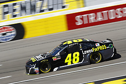 March 2, 2018 - Las Vegas, Nevada, United States of America - March 02, 2018 - Las Vegas, Nevada, USA: Jimmie Johnson (48) brings his race car down the front stretch during practice for the Pennzoil 400 at Las Vegas Motor Speedway in Las Vegas, Nevada. (Credit Image: © Chris Owens Asp Inc/ASP via ZUMA Wire)