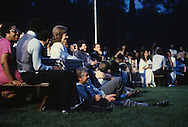 President Jimmy Carter claps at a Black Jazz festival on the South Lawn of the White House in June 1979<br /> <br /> Photograph by Dennis Brack<br /> bb45